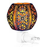 Salt Night Light,Natural Wall Light Salt Lamp with 2 Bulbs, Himalayan Rocks Salt Lamp with Spherical Metal Basket Valentine's Day Gift
