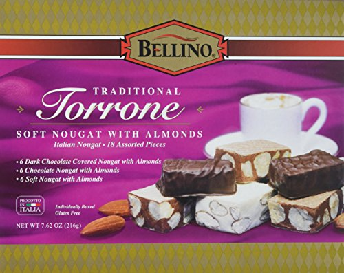 Bellino Assorted Torrone (Nougat) Candy, 7.62 Ounce Box ()