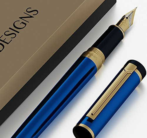 Dryden Luxury Fountain Pen [MYSTERIOUS BLUE]   Modern Classic Limited Edition   Executive Fountain Pens Set   Vintage Pens Collection   Business Gift Pen   Calligraphy   Ink Refill Converter