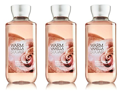 Bath and Body Works Warm Vanilla Sugar Signature Collection Shower Gel, 10 oz, new packaging 3 Pack