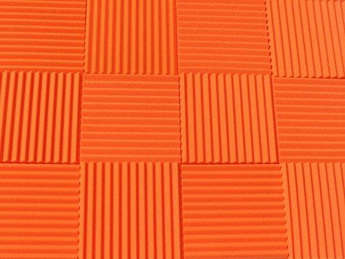 Orange Sound Clips - Soundproofing Acoustic Studio Foam - Orange Color - Wedge Style Panels 12