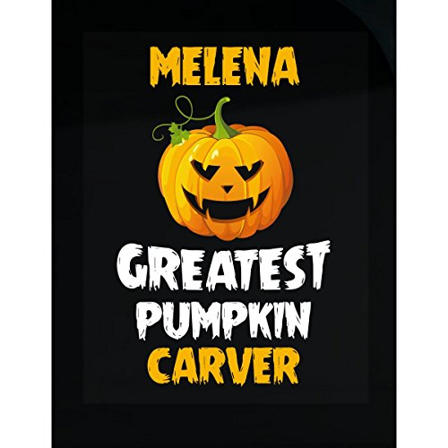 Melena Greatest Pumpkin Carver Halloween Gift   Sticker