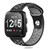HUMENN For Fitbit Versa Bands, Replacement Accessory Breathable Sport Bands with Air Holes for Fitbit Versa Smartwatch