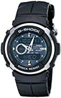 G-Shock G300-3AV Men's Black Resin Sport...