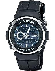 G-Shock G300-3AV Mens Black Resin Sport Watch
