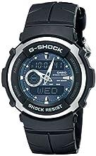 Casio Men's G-Shock G300-3AV Shock Resistant Black Resin Sport Watch