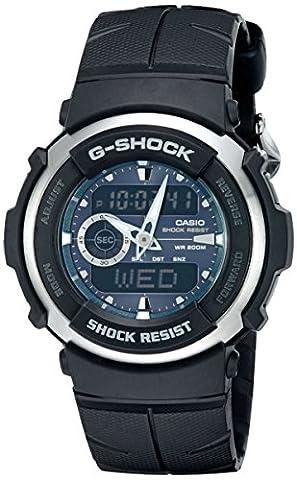 G-Shock G300-3AV Men's Black Resin Sport Watch (Mens Digital Sports Watch G Shock)