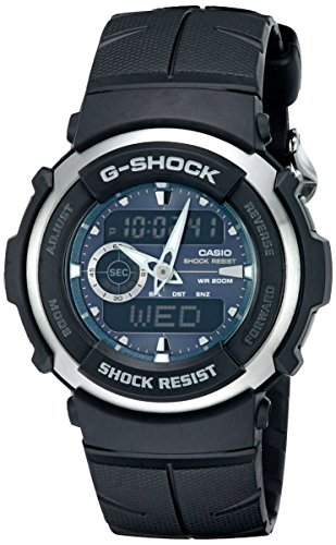 G Shock G300 3AV Black Resin Sport