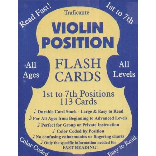 Violin Position Flash Cards 1st to 7th Positions 113 Cards (Music Note Flash Cards For Violin)