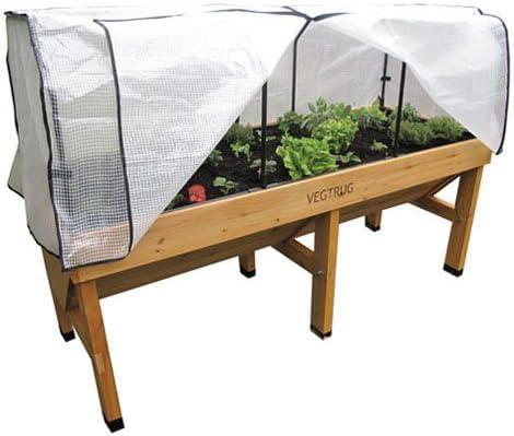 VegTrug - Invernadero (tamaño mediano, incluye: plástico protector de 1, 8 m y estructura, no incluye: cesto): Amazon.es: Jardín