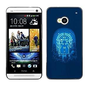 Caucho caso de Shell duro de la cubierta de accesorios de protección BY RAYDREAMMM - HTC One M7 - Moonlight Puerta