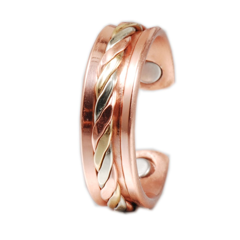 Wollet (CPR-0208) Jewelry/Women/Men's Adjustable Healthy Magnetic Copper Ring for Arthriti