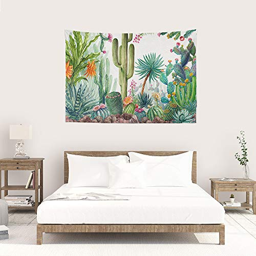 Pulison Background Paper Beautiful Flowers Cactus Tapestry Wall Furniture Bedspreads Shower Curtains for Photographers