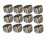 Antrader Metal Corner Protector Edge Safety Guard Angle Shelf Bracket Bronze Tone Pack of 12