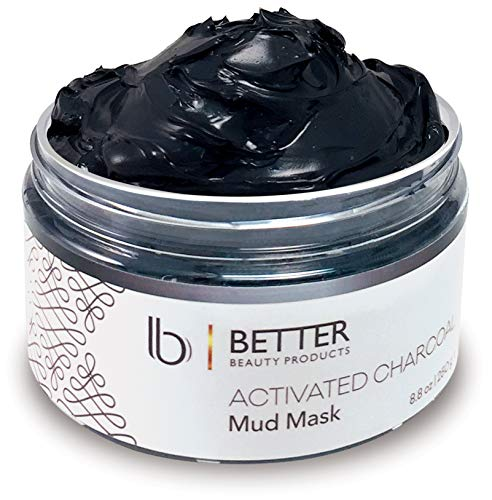 Activated Charcoal Mud Mask by Better Beauty Products, Facial Mask for Clear Complexion, Blackheads, Shrinking Pores, Acne, Removing Toxins, 8.8 oz.