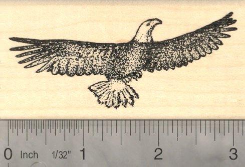 Soaring Eagle Rubber Stamp