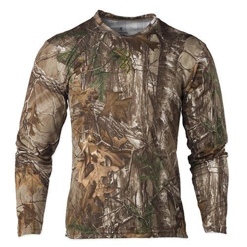Browning Mens Wasatch Vapor Max Long Sleeve Shirt,Realtree Xtra,Extra Large