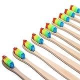 Zcargel 10 Pcs Eco-Friendly Bamboo Toothbrush BPA-Free Soft Nylon Bristles Natural Dental Care for Men Women