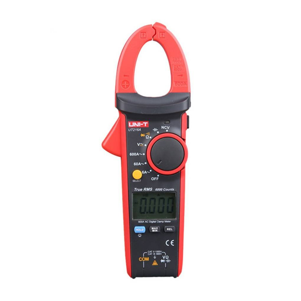 MuLuo UNI-T UT216A 600A Digital Clamp Meters DC Current NCV Tester V.F.C Diode LCD Display Work Light Multimeters