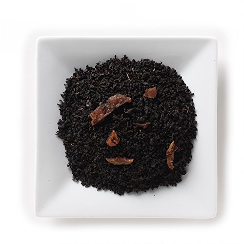 Mahamosa Apricot Brandy Decaf Tea 4 oz- Flavored Decaffeinated Black Tea Blend (with loose leaf decaf black tea and apricot pieces with apricot brandy flavor)