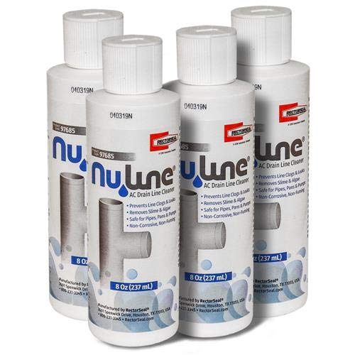 FAST SHIPPING! (4)-Pack NuLine HVAC Condensate Nu-Line Drain Cleaner , 8 ounce