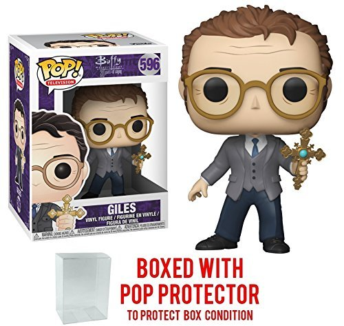 Funko Pop! TV: Buffy the Vampire Slayer 25th Anniversary - Giles Vinyl Figure (Bundled with Pop BOX PROTECTOR CASE)