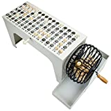 EZ-Reset Professional Steel Tabletop Bingo with 75 Carved Wooden Balls, Cage, and Masterboard by Royal Bingo Supplies