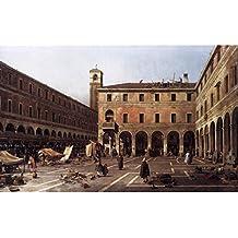 The Campo di Rialto by Canaletto