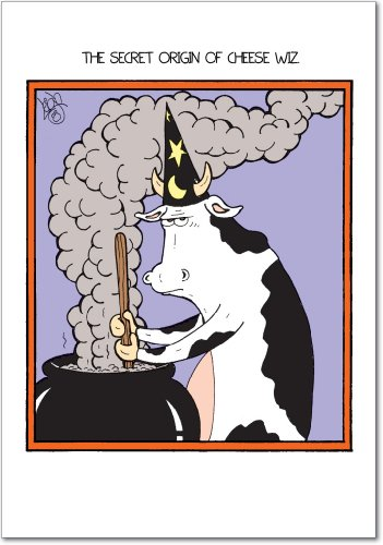 3021 'Cheese Wiz' - Funny Halloween Greeting Card with 5