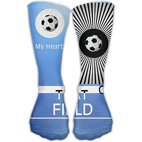 Unisex Athletic Socks Ankle Socks Casual Sport Socks My Heart Is On That Field聽Soccer Mom Breathable Crew Socks - Warm Is Or Cool My Skin