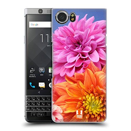 Dahlia Black Case (Head Case Designs Orange And Pink Dahlias Flowers Hard Back Case for BlackBerry KEYone / Mercury)