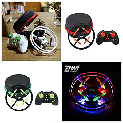 New Mini Super Durable Nano UFO Drone Space Trek 2.4GHz 4-Axis 4CH RC Quadcopter,Remote Control Airplane Toys Outdoor Racing Controllers Helicopters Parts 4 Channnel Planes For Kids Adults (White): Beauty