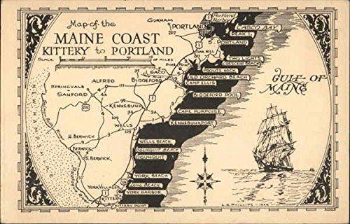 Amazon Com Map Of Maine Coast Kittery To Portland Maps Original