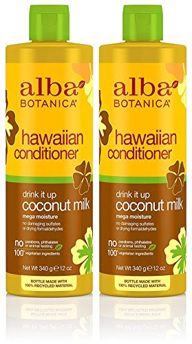 Alba Botanica, Drink It Up Coconut Milk Hawaiian Conditioner, 12 Ounce Bottle (Pack of 2)