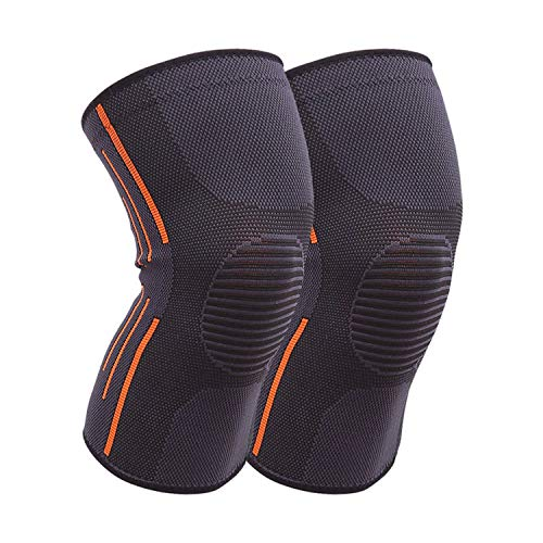 Ice Bear Needs Orders 1 Pair Sports Safety Football Kneepad Basketball Knee Pads Sport Accessorie Elastic Knee Protector Knee Support,Grey,S