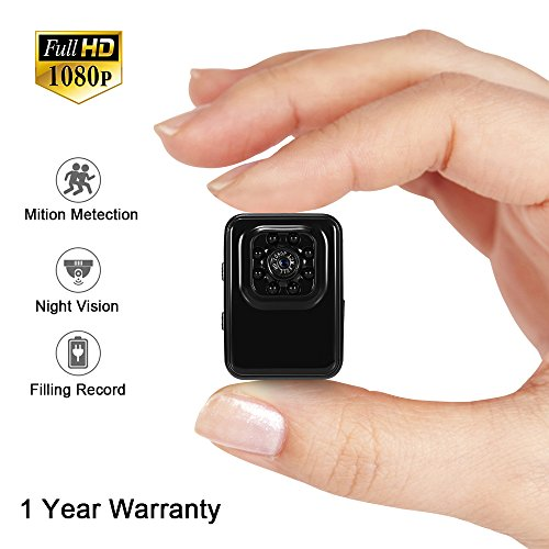 Mini Camera Small Camera LXMIMI 1080P HD Portable Camera Tiny Camera Web Cam with Night Vision and Motion Detection for Home and Office Surveillance Security Camera Surveillance Camera