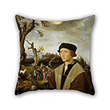 Oil Painting Jan Mostaert - Portrait Of A Young Man Pillow Shams 20 X 20 Inches / 50 By 50 Cm For Dance Room Club Kids Boys Pub Wife Study Room With Two Sides