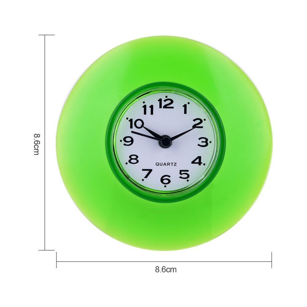 Horloge de Salle de Bain avec Ventouses – Pendule Murale pour Douche ...