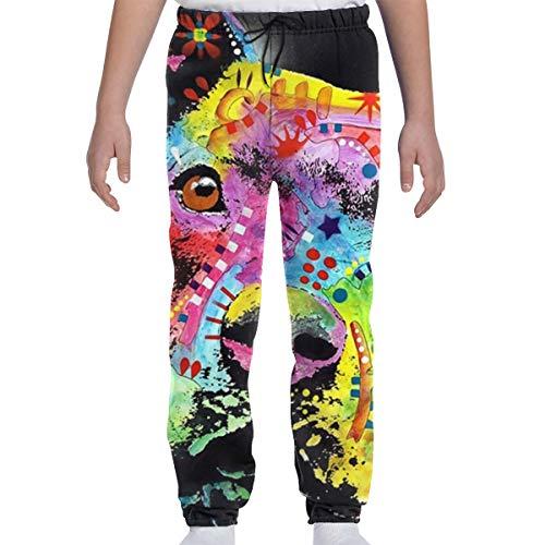 Dreamfy Maltese German Shepherd Colorful Joggers 3D Print Unisex Sweatpants Novely Trousers Running Sport Gym Pants White