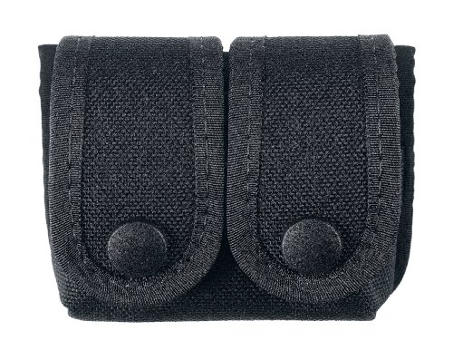 (Uncle Mike's Off-Duty and Concealment Accessory Kodra Double Snap Close Speedloader Case, Black)