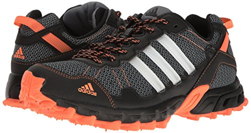 adidas Women's Rockadia Trail W Running Shoe Black/White/Easy Orange 6 M US by adidas (Image #6)