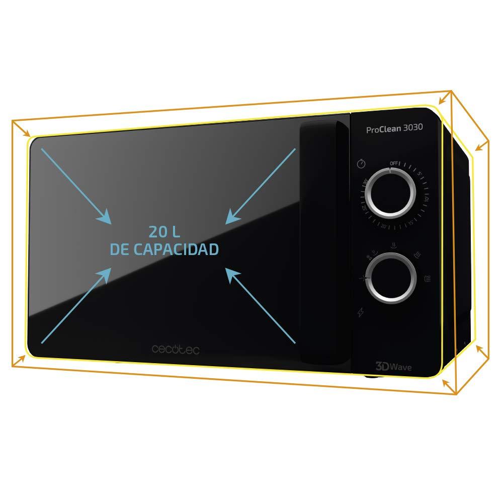 Cecotec Microondas ProClean 3030. Capacidad de 20l, Revestimiento ...