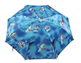 Westery Automatic 2-Fold Umbrella | Lightweight Umbrella | Large Canopy | Water Proof | Satin Material |Wonderful designs and Rain & Sun Protection Umbrella (Blue)