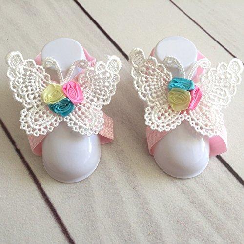Gummibändern Füße Spitze Modell Schmetterling