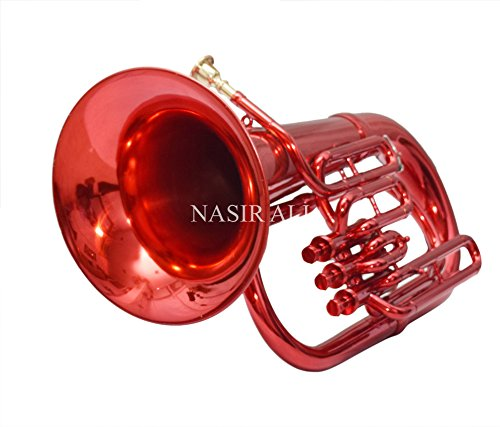 Nasir Ali Euphonium Red Bb 3 valve by NASIR ALI