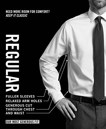 Van Heusen Men's Dress Shirt Regular Fit Poplin Solid 4