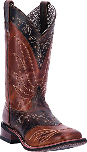 Mujeres Laredo Keira Western Cowboy Bota Square Toe Tan Adobe Leather B (m) 5674