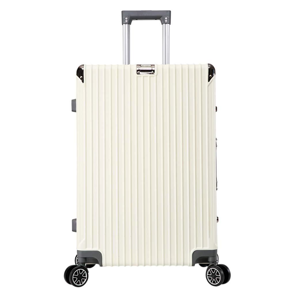 ローリングラップトップケース、3サイズ軽量PCハードシェルホールドチェックインラゲッジスーツケースin 4つの車輪付き、キャリーオンハンドトロリーアンチスクラッチウェアラブル(ホワイト) Medium White B07P5C34YX
