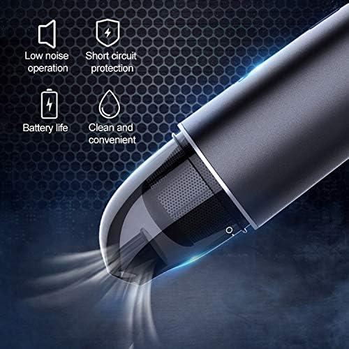 Sghjfj Aspirateur à Main Voiture/Ménage sans Fil Portable 90W Puissant Portable Aspirateur (Color : White) White