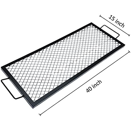 Onlyfire Rectangle X Marks Fire Pit Cooking Grate 40 Inch